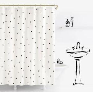 Kate Spade deco dot shower curtain
